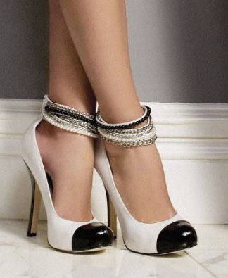These Bebe Elle Embellished Pumps are great for black/white shoe trend enthusiasts... but not me.Photo: fashionfuss.com