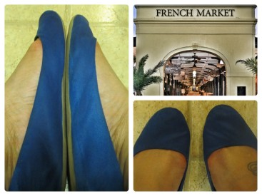 Photos: H&M flats worn by Darby/ French Market photo courtesy of www.amberhuez.com
