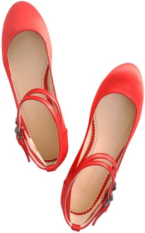 Photo: Charlotte Olympia Satin Ballerina Flats