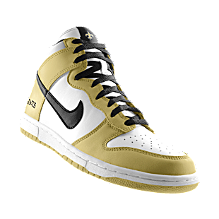 My customized Saints Nikes. Photo: Nike Store
