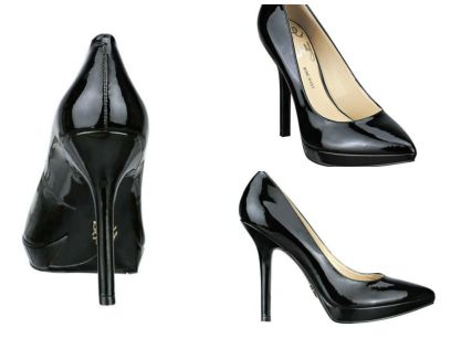 Photo: black patent leather pumps from Nine West